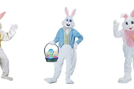 Plush Easter Bunny Costume