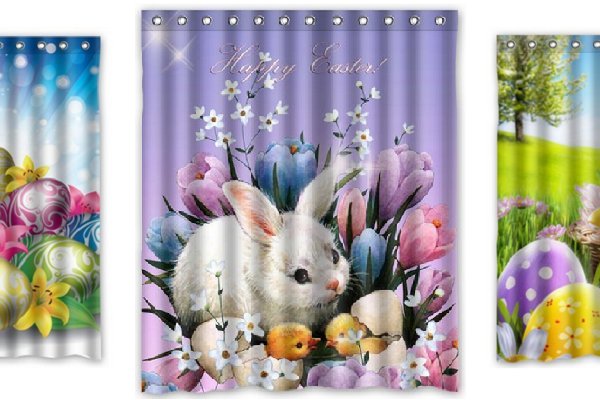 Shower Curtains for Easter Decor