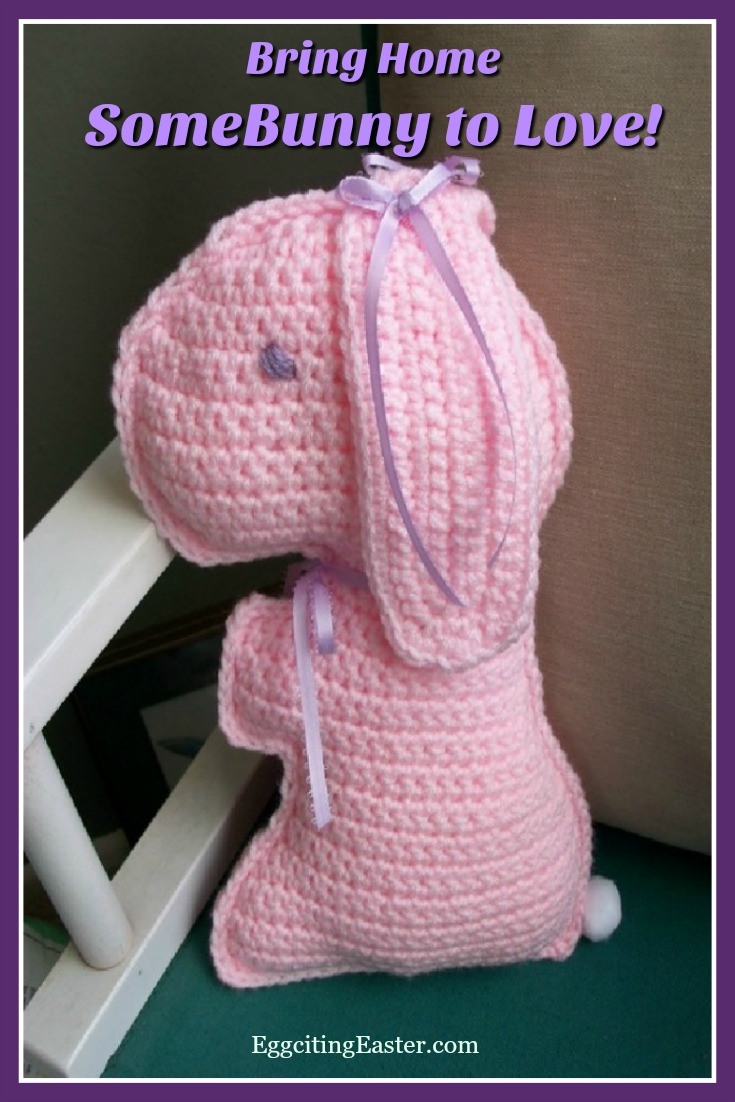 Crocheted Pink Bunny