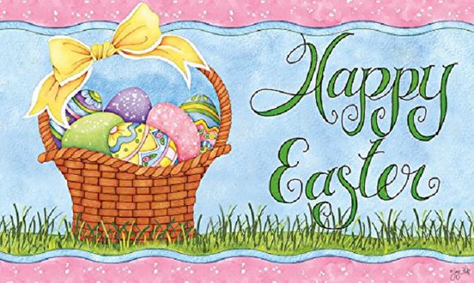 Indoor Outdoor Easter Door Mats