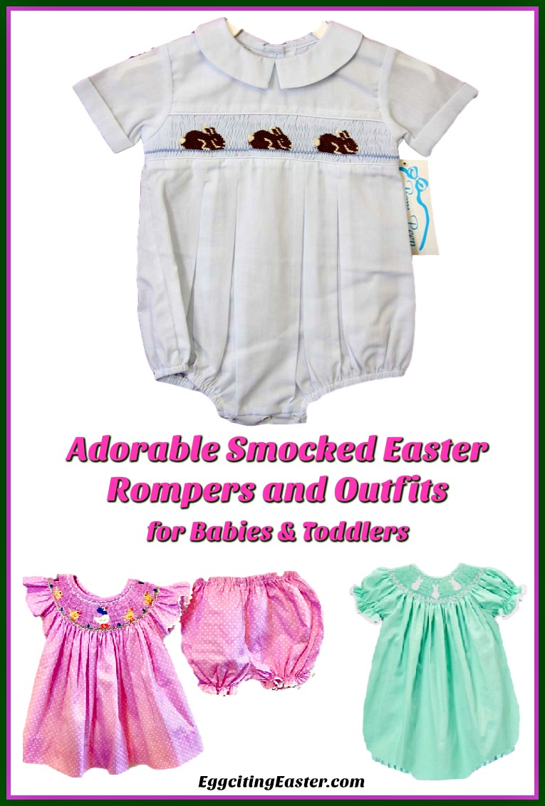 Adorable Smocked Easter Rompers & Outfits for Babies / Toddlers