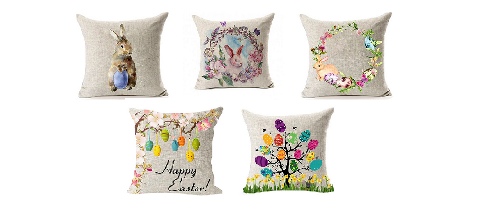 Easter Throw Pillows in Easter Home Decor