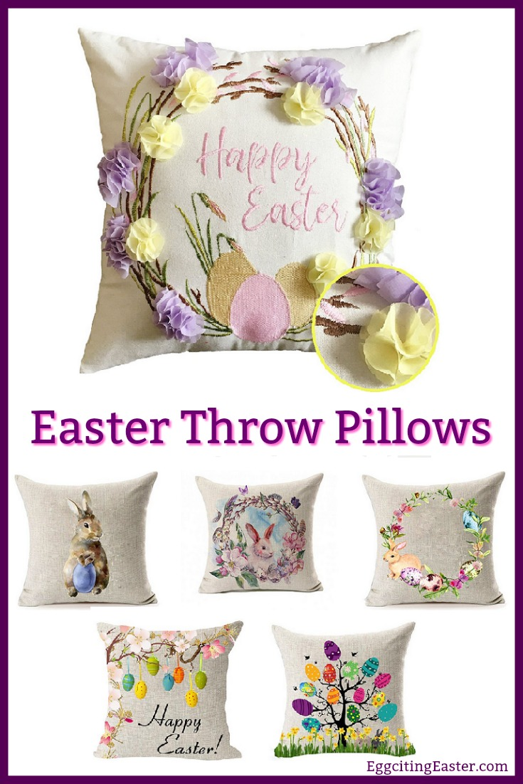 Easter Throw Pillows In Easter Home Decor Eggciting Easter